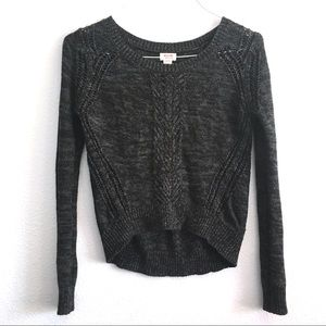 Mossimo | Textured Charcoal Sweater Dark Gray Knit